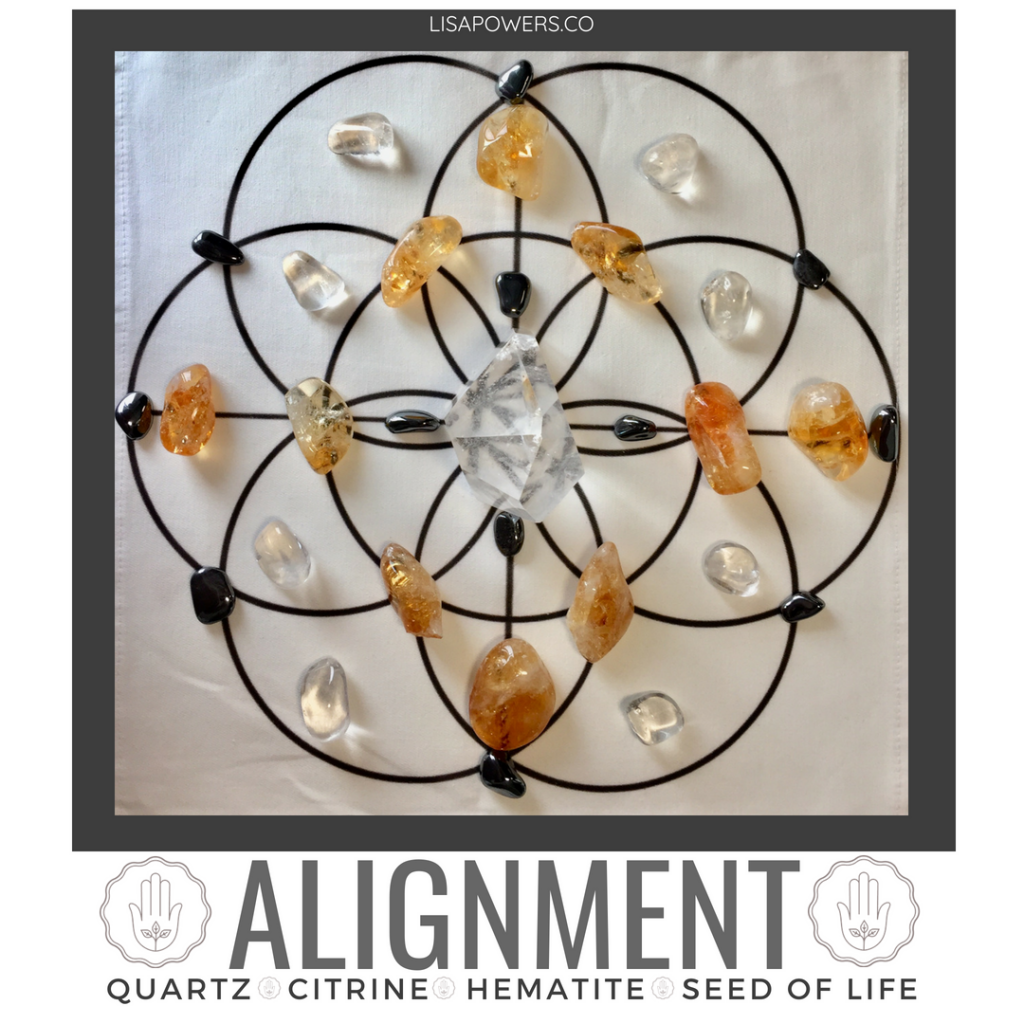 Alignment Crystal Grid and Essential Oil Blend