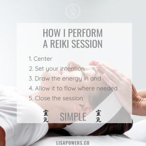 How I Perform a Reiki Session