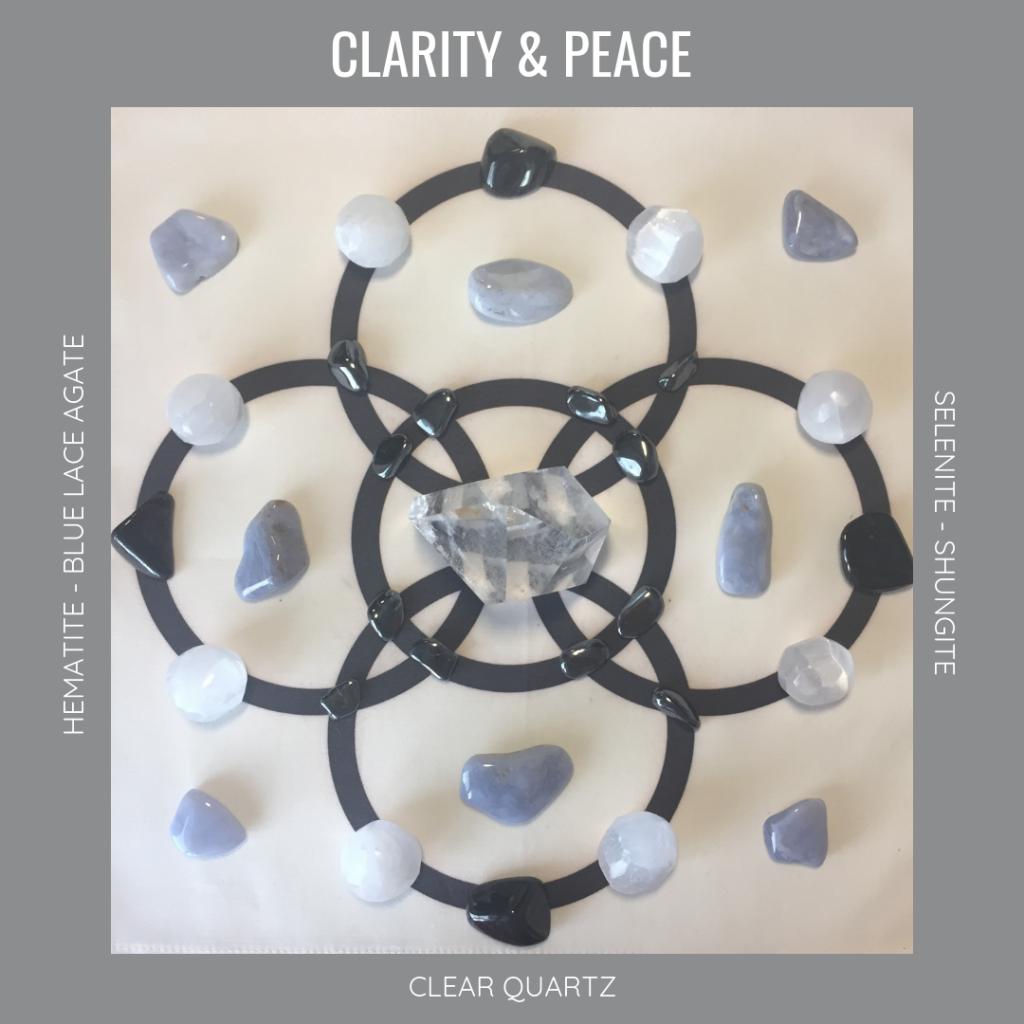 Clarity & Peace Crystal Grid