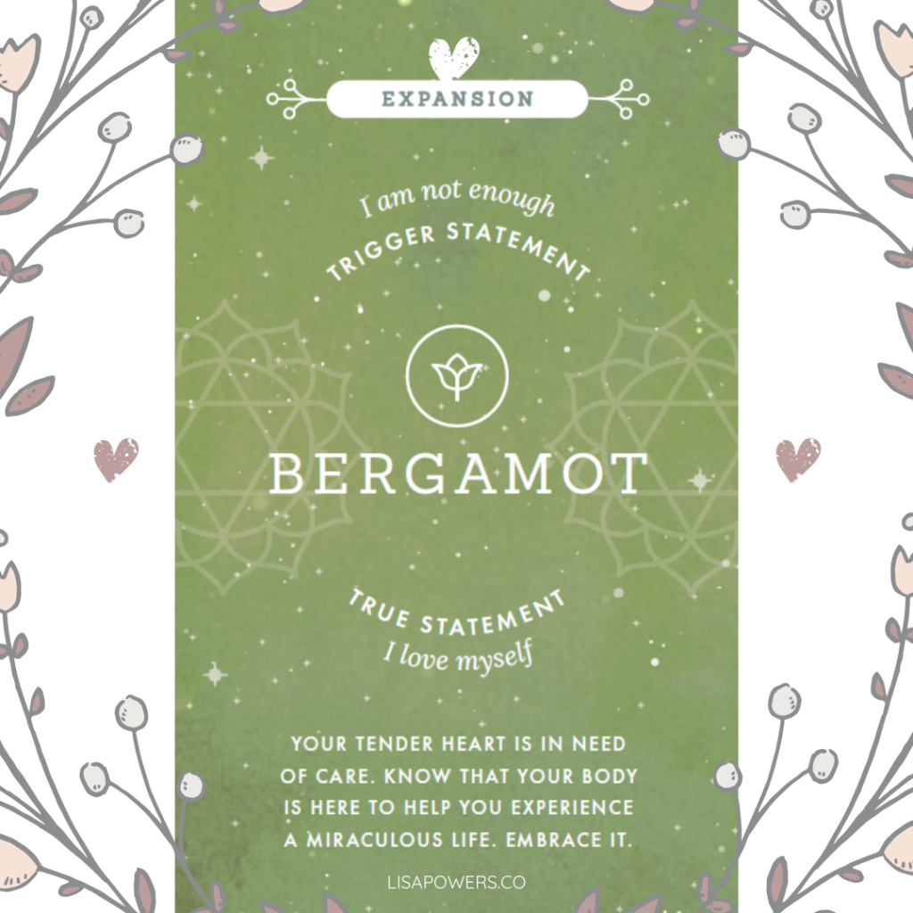 Bergamot essential oil can help build your self-confidence and self-love.
