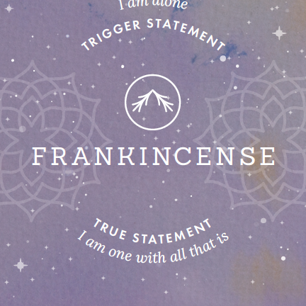Essential Oil ORACLE CARD Frankincense